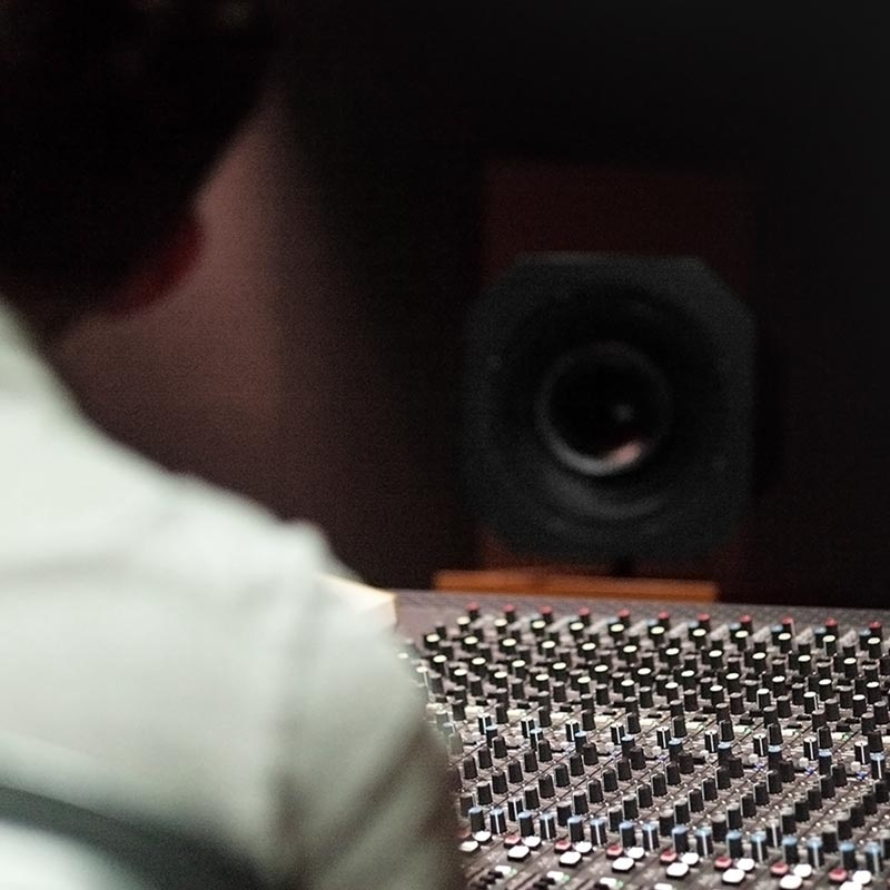 Productshot of Mixing Console in Studio