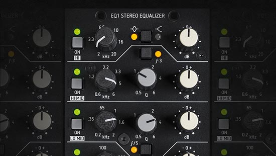 Product teaser EQ1 stereo equalizer